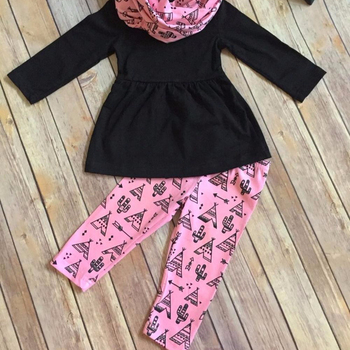 1ef647ab2d6a yiwu wholesale market toddler girl boutique outfits kids girls dress top  and pant set Eiffel Tower