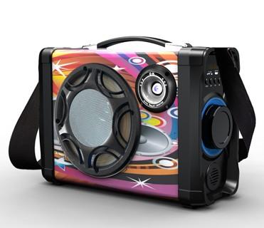 440k - Loa bluetooth karaoke xách tay MS-158BT tặng kèm micro có dây giá sỉ và lẻ rẻ nhất