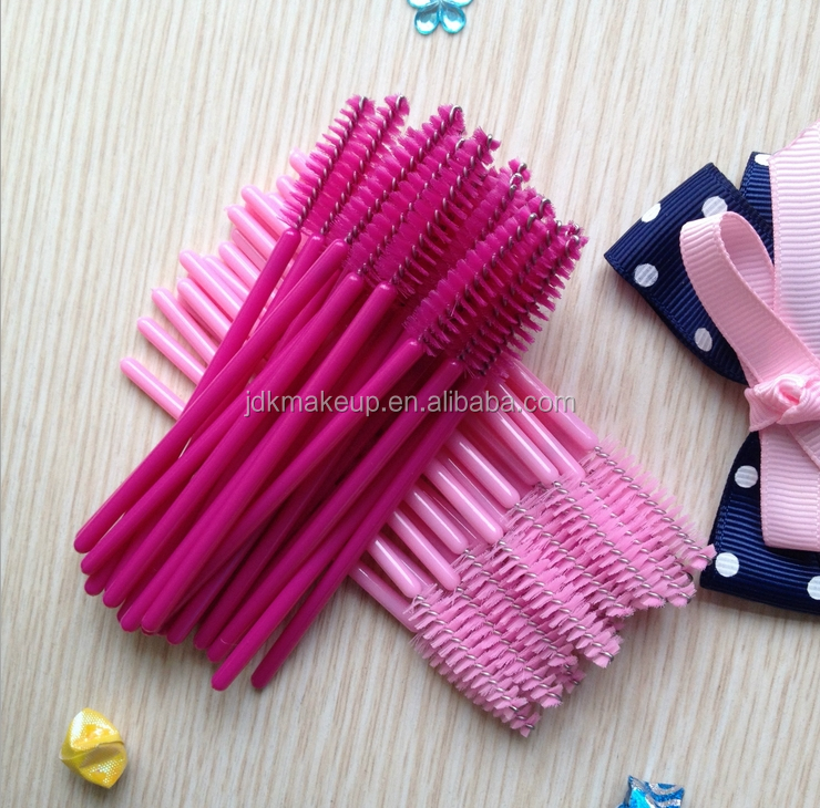 Goedkope Hot Roze wimper extensions borstels wegwerp up mascara wands