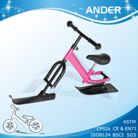 Ander New Top Sale Kids Pink Snow Scooter/ Ski Toy Sledge