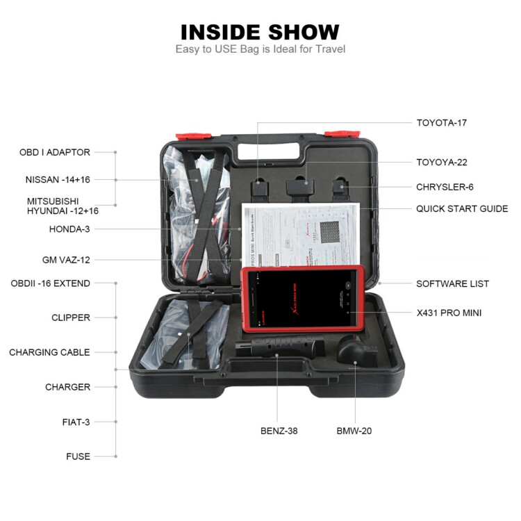 Portable Launch X431 Pros Mini / Pro Mini Scanner Vehicle Diagnostic Machine for All Cars