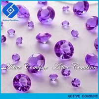 More Than 98% Good feedback Over 40 Colors Any Size High Quality Purple Acrylic Scatter Crystals for Spark Wedding Party Decor