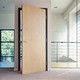 Hpl Phenolic Compact Laminate Wooden Design Decorative Panel Door