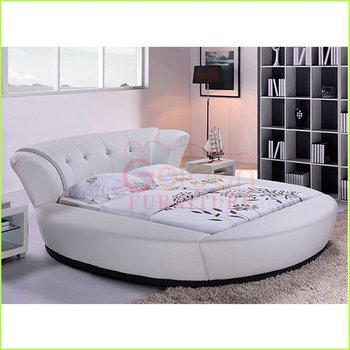 Modern White Leather Round Beds For Kids Buy Round Beds For Kids  - Round Beds
