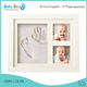 Excellent baby gift / wooden inkpad hand&foot print picture frames with clay