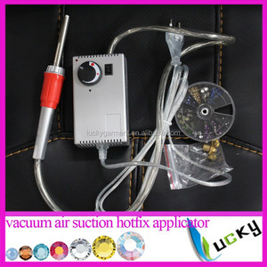 Air suction pick-up&Hotfix Applicator Vacuum hot fix wand Gun super for iron on Rhinestones crystals tools+plug matches Past CE
