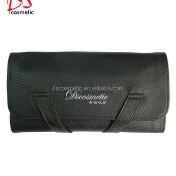 Dishi Makeup Bag With Brush Holder Travel Pouch Roll Up Case