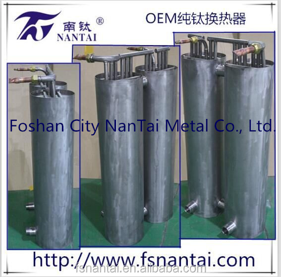 Titanium Coil Tube Heat Exchanger With Titanium Shell