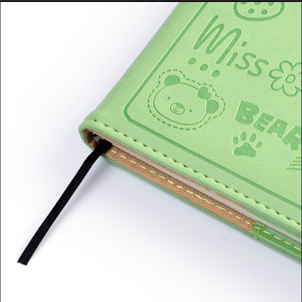 2018 cute design leather bound planners with clasp