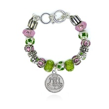 Topvesko 은 Alpha KappaAlpha Shield Charm Jewelry Diva Mantra 페르시 Bracelet