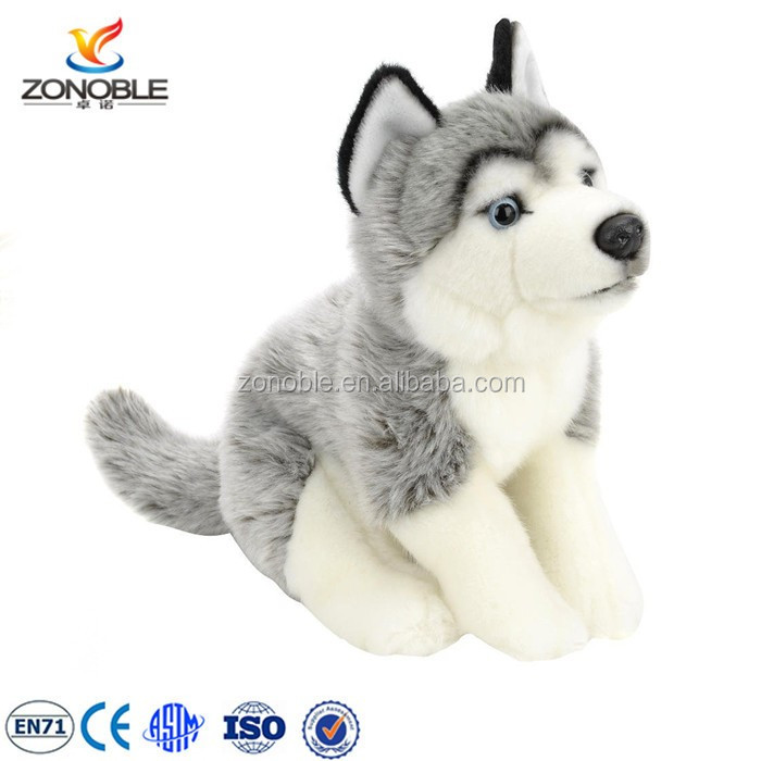 Factory Oem Design Plush Dog Toy Cuddly Plush Husky Dog Stuffed