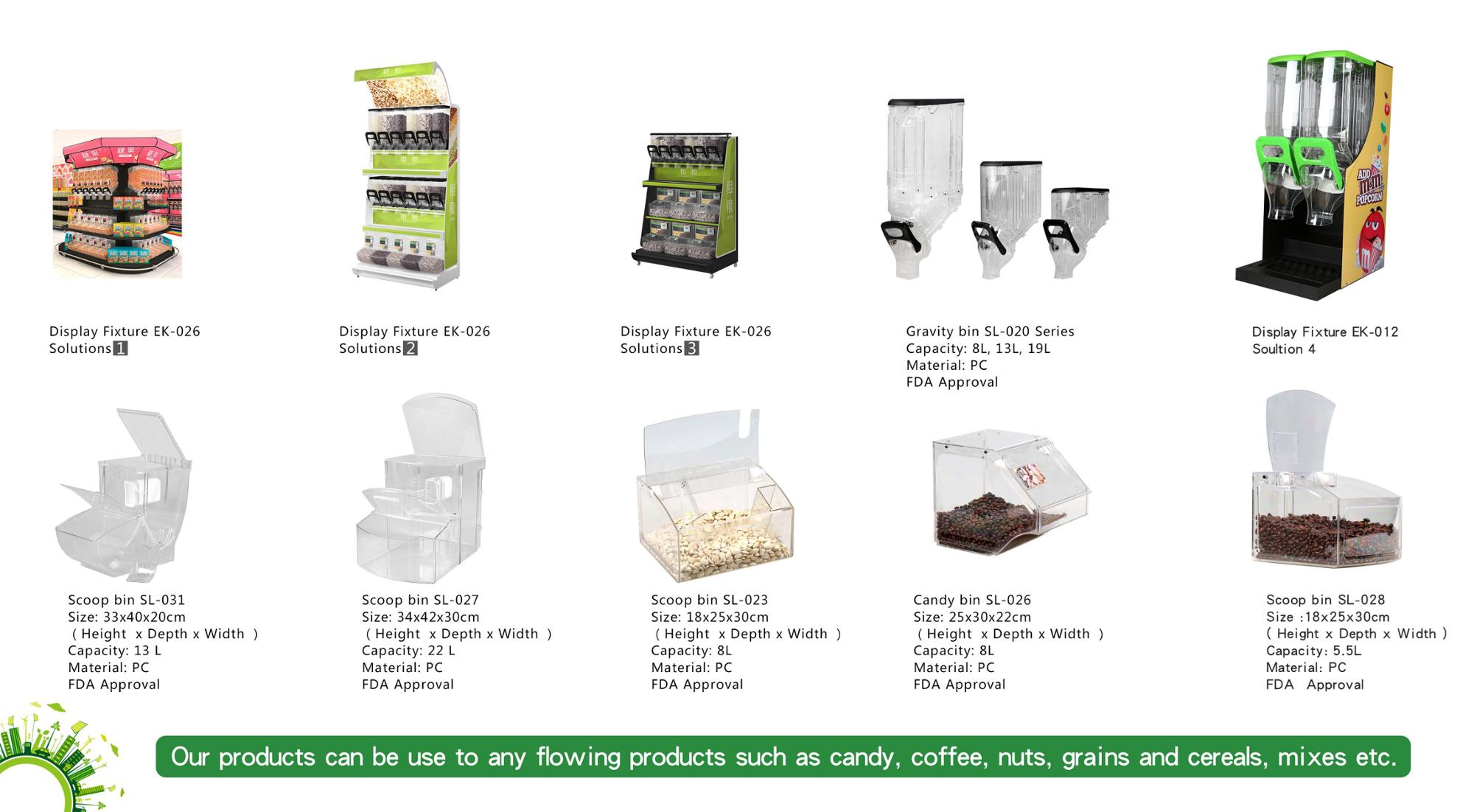 new clear candy gravity bin with lid for retail Acrylic box for supermaket display