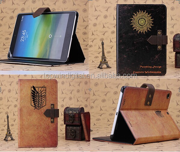 China Factory Supply Classic Series PU Leather Flip Cover For Xiaomi Mi pad Case with Stand