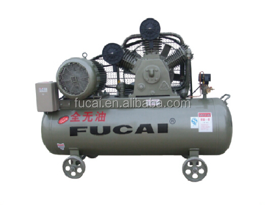 FUCAI factory direct selling portable belt driven (10HP 12bar 230Ltank)Model FC-1.0/12 heavy duty oil free piston air compressor
