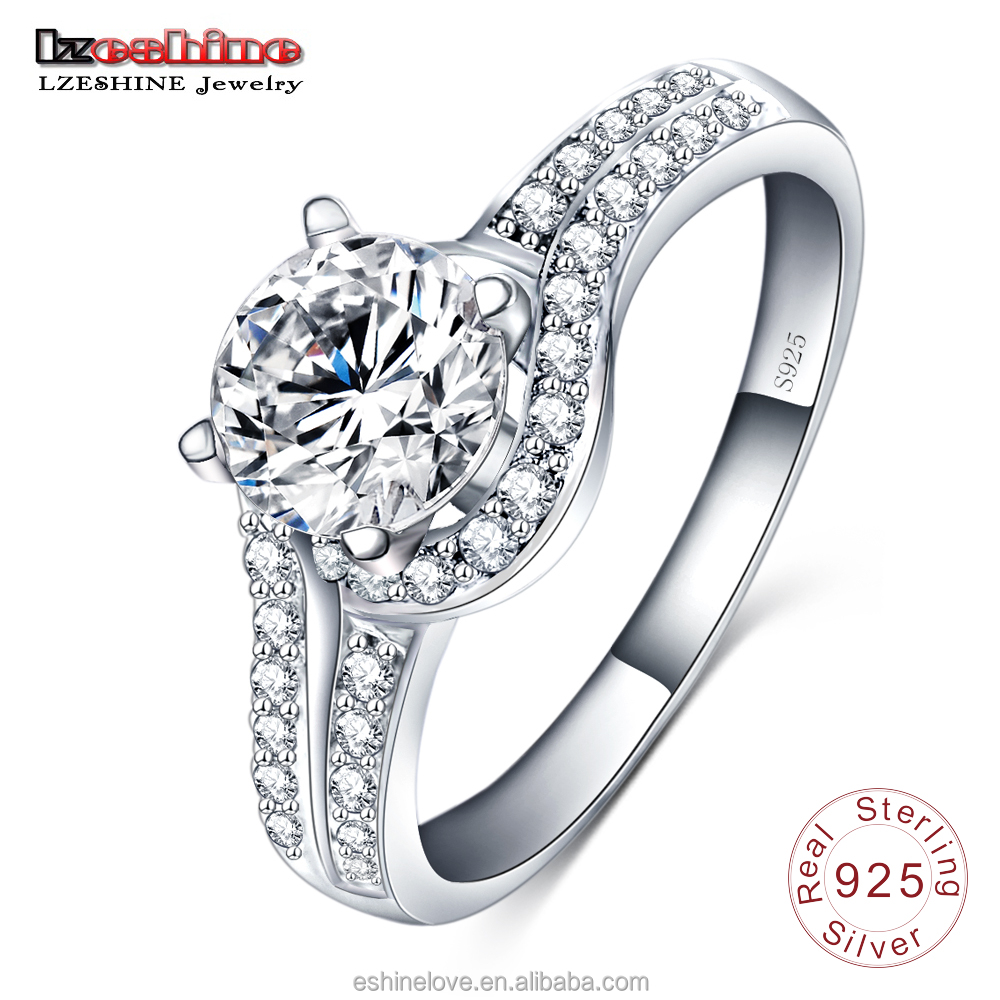 Infinity Love Engagement Wedding Diamond Ring 925 Sterling Silver With Clear Zircon Bridal Jewelry inel SRI0002-B