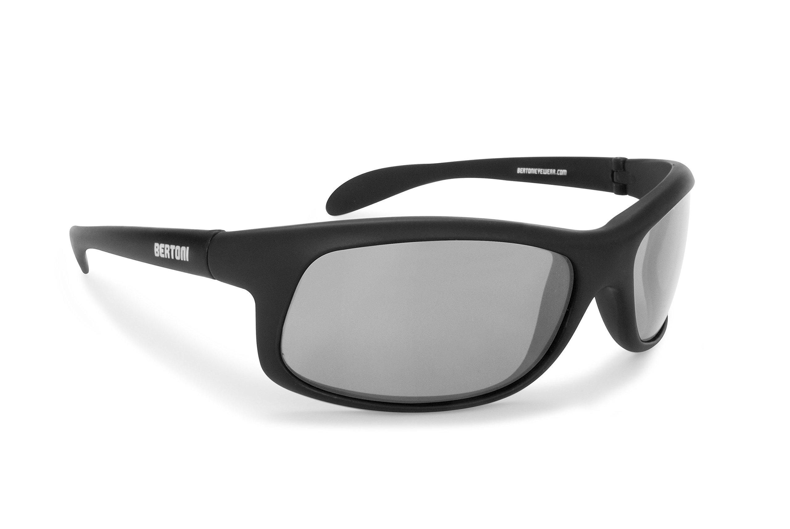 93da6c9f6e1 Get Quotations · Bertoni Photochromic Polarized Sunglasses Cycling Fishing  Watersports Running Ski - P545FT by Bertoni Italy - Sporting