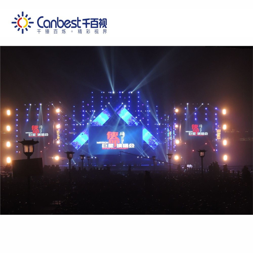 outdoor concert stage 4.8mm led screen panel for dj facade booth