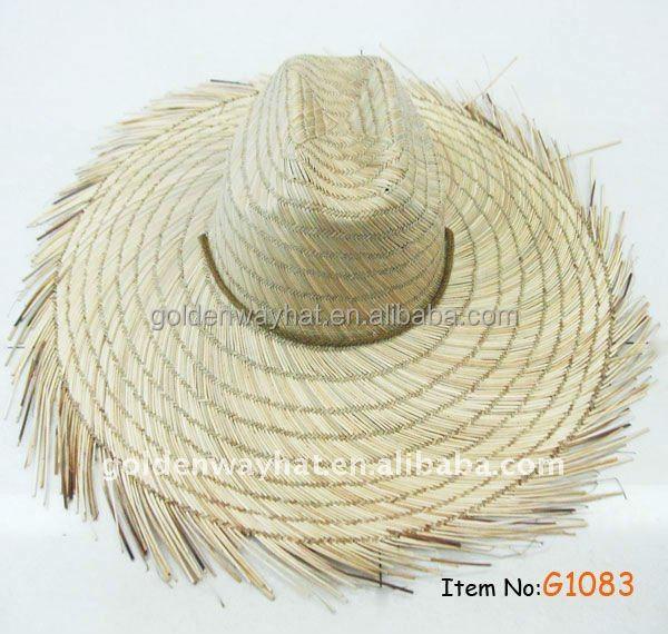 dfb886d3c7d92 Farmers Wide Brim Gambler Straw Hat Frayed Edges - Buy Straw Hat ...