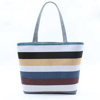 Las Canvas Shoulder Tote Handbag