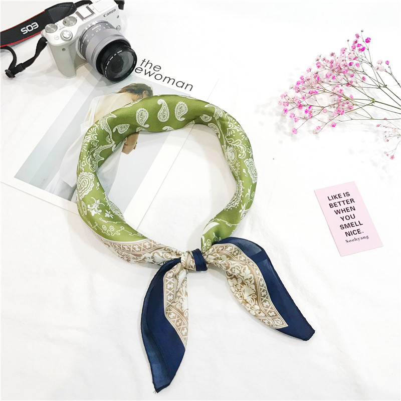 High quality square scarf fashionable small chinese silk scarf