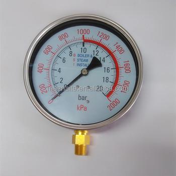 150mm Steam Boiler Pressure Gauge - Buy Steam Boiler Pressure Gauge ...