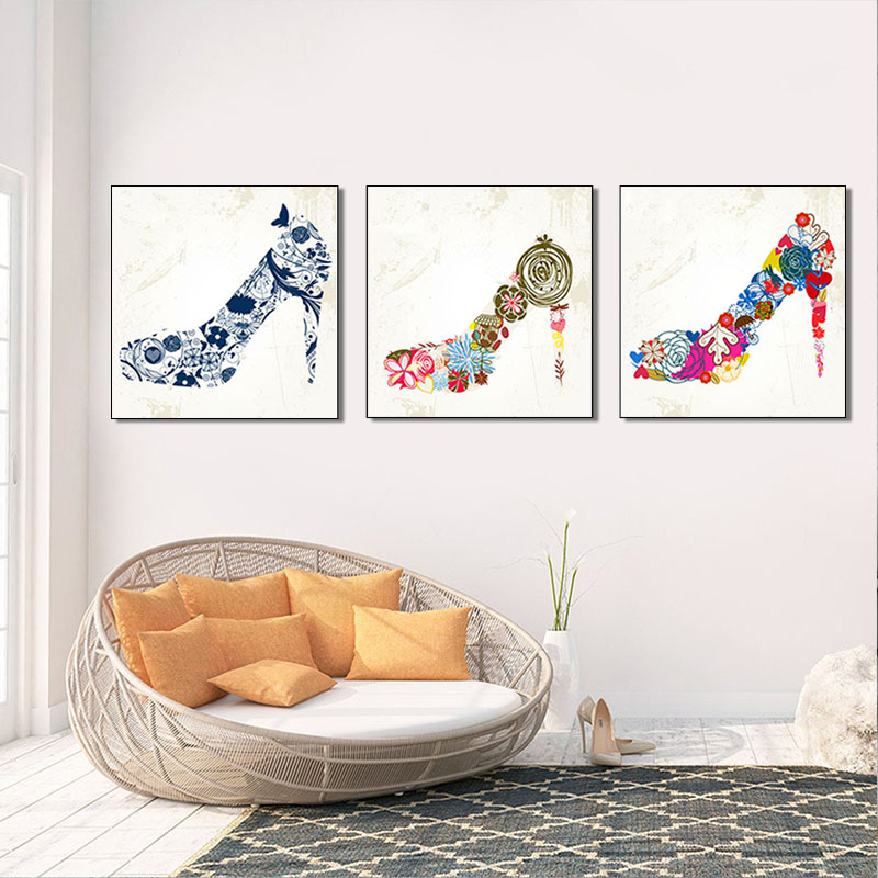 추상 (High) 저 (힐 Canvas 벽 Art, 현대 Fashion Woman 화 숍 Picture, 3 개 Lady Collection 홈 Decor