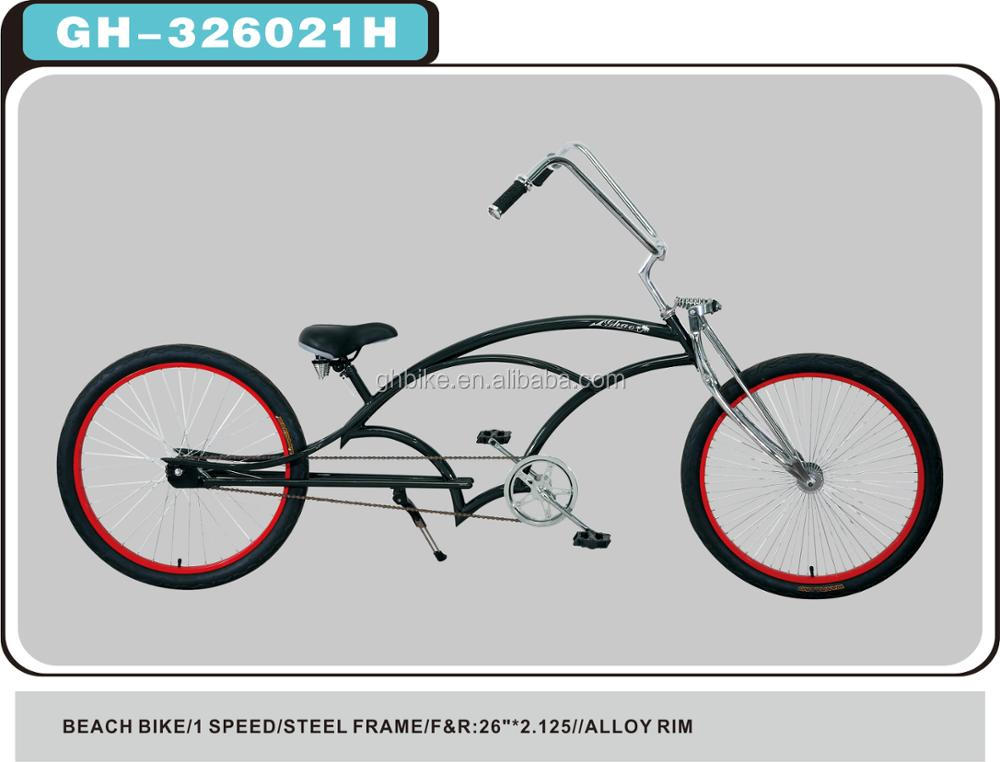 Long Frame Chopper Beach Cruiser Bike - Buy Long Frame Beach Cruiser ...