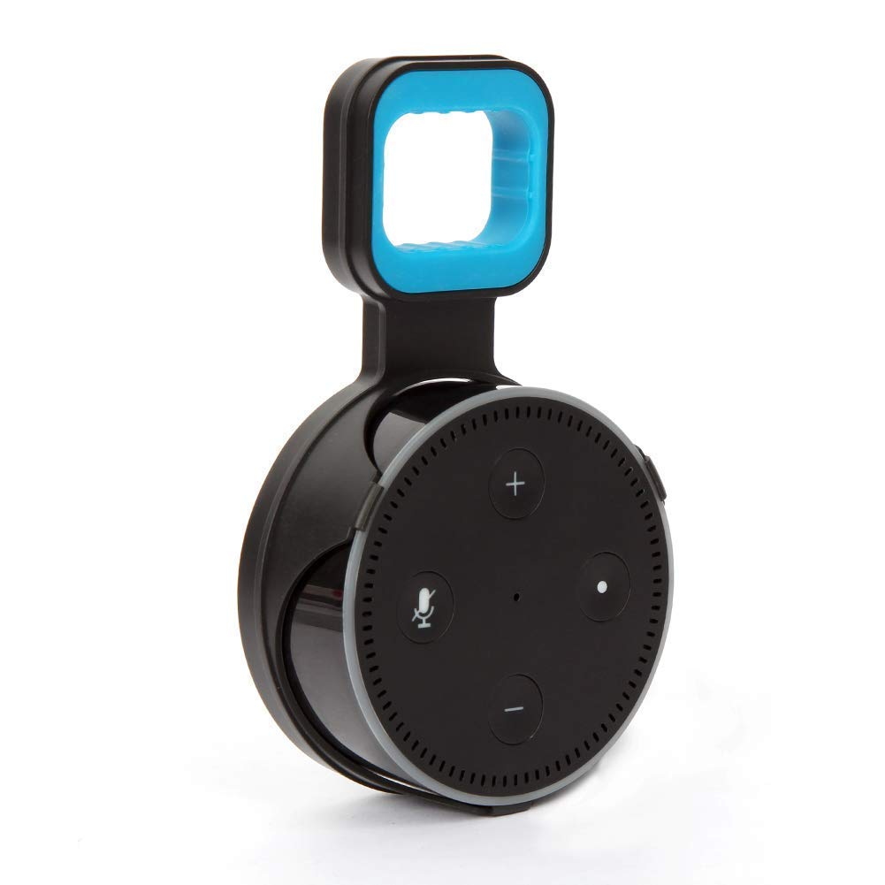 Outlet Wall Mount Stand for Echo Dot 2nd Generation, A Space-Saving Solution for Your Smart Home Speakers and Reduce Clutter. Easy Mount Home Audio Accessories -Short Cord Provided (Black)