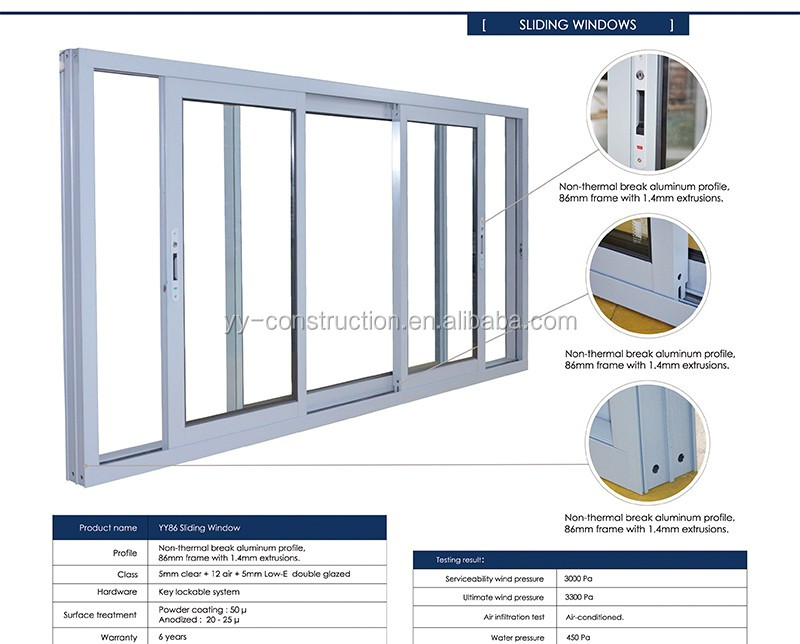 Pvc Sliding Window With German Brand Wooden Like Color