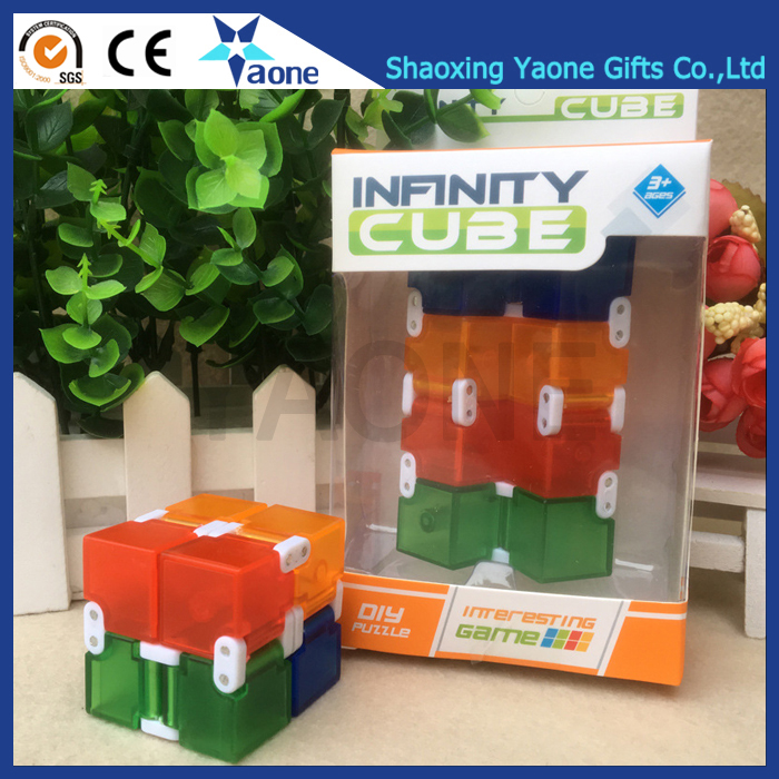 High Quality Newest Transparent Colorful Plastic Decompression Edc Fidget  Infinity Cube - Buy Fidget Infinity Cube,Fidget Infinity Cube,Fidget