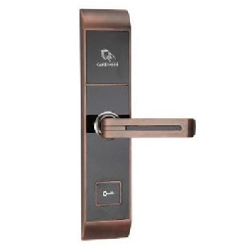 New Keyless Card Swipe Security Electronic Rfid Reader Hotel Room Door Lock With Emergency Key