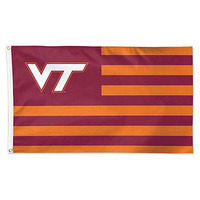 Customized 90*150cm 1pcs double sided polyester printing Virginia Tech flag banner