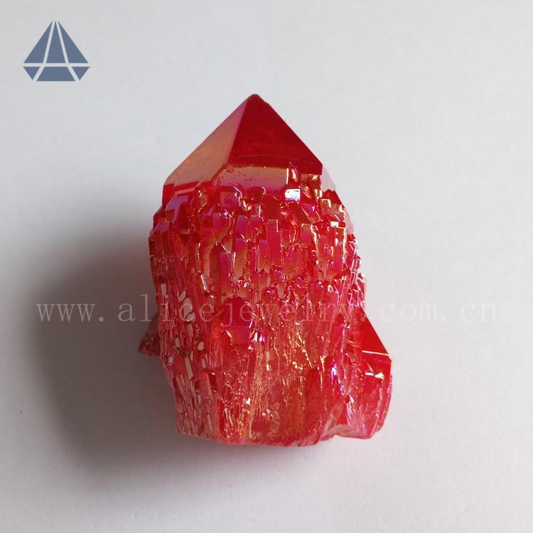 Wholesale Rough Ruby Aura Quartz Crystal Cluster Raw