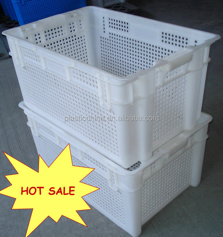 big capacity low price warehouse use stackable plastic box fruit box vegetable crate