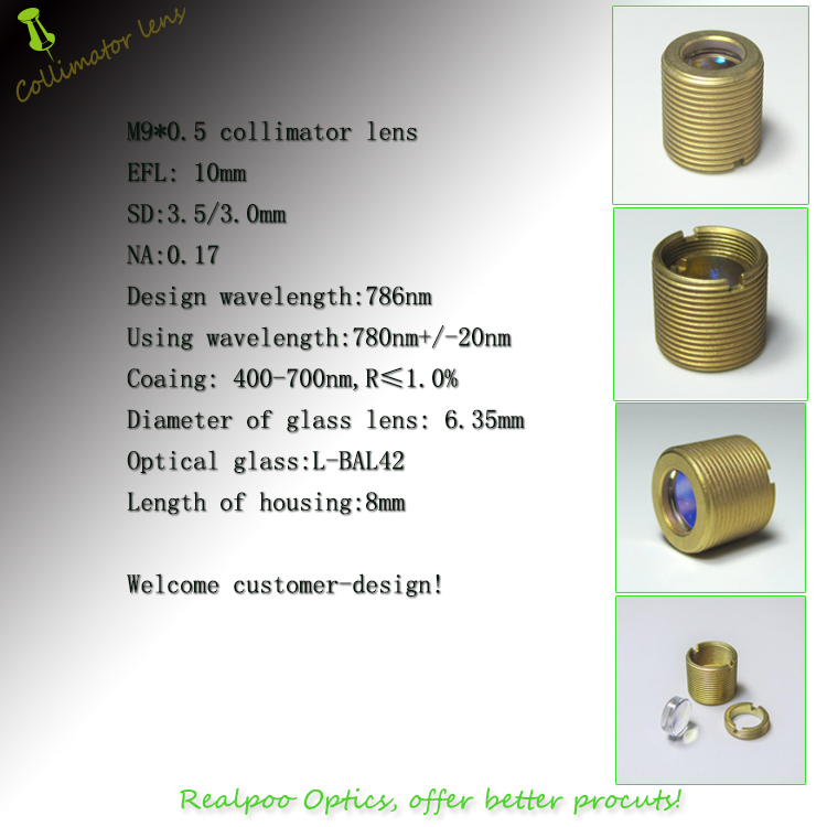 Factory supply Optical Collimator lenses