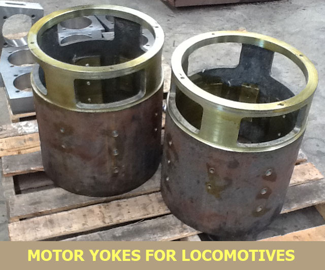 motor yokes for locomotive