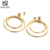 Stainless Steel Drop Earring wholesales Gold Plated Stainless Steel Round Circle Earrings