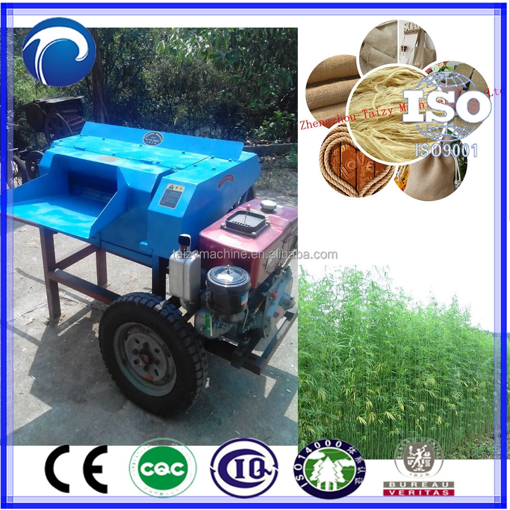 China Golden Supplier Fresh Sisal Hemp Fiber Extractor Machine ...