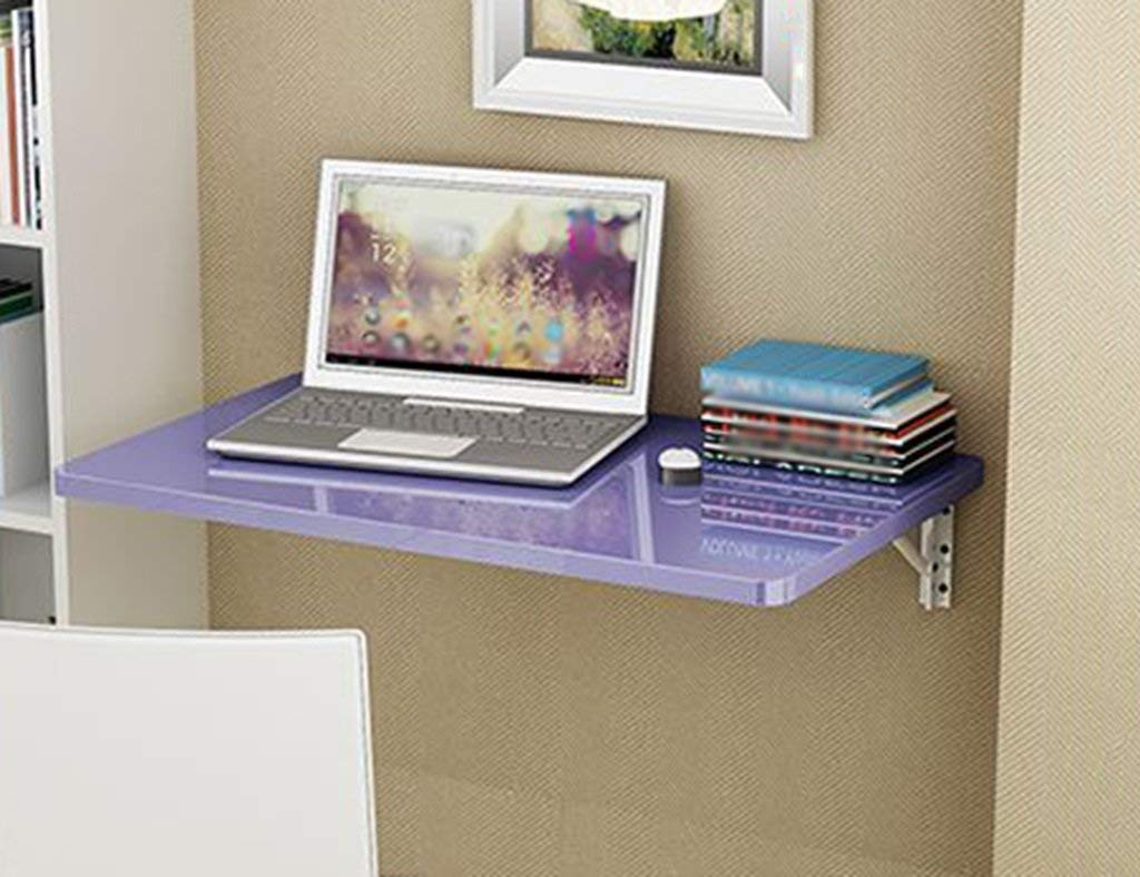 Mmdp Wall-mounted Desk Foldable Dining Table Office Table Computer Desk Learning Table Size Optional (Color : Purple, Size : 10040cm)