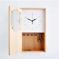 luxury wall clock Wooden Electronic Wall Clock