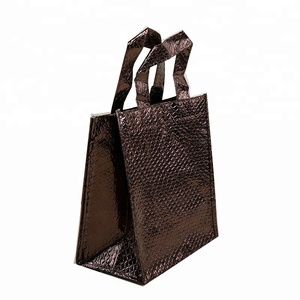 Laser coating boutique folding eco packaging hologram non woven custom shopping bags