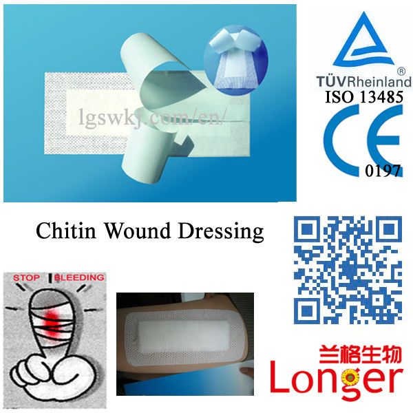Breathable Wound Dressing Natural Chitosan