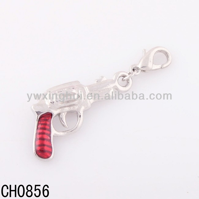 Factory sale cute alloy gun pendants, mini gun pendants, gun pendants charm