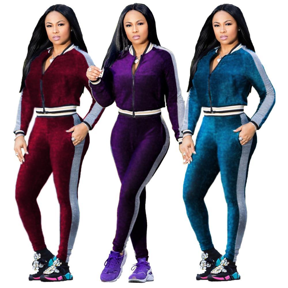 Women waterproof velvet training jogging wear fitness