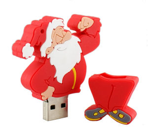 Christmas Carton USB Flash Drive Cartoon Pen Drive Santa Claus Pendrive Carton