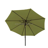 Patio Market Portable 11 foot Sage Green Aluminum Garden Parasol for sale