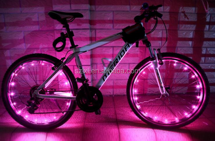 fietsen fiets wielen sprak licht helder blauw 2 modus-fiets licht ...