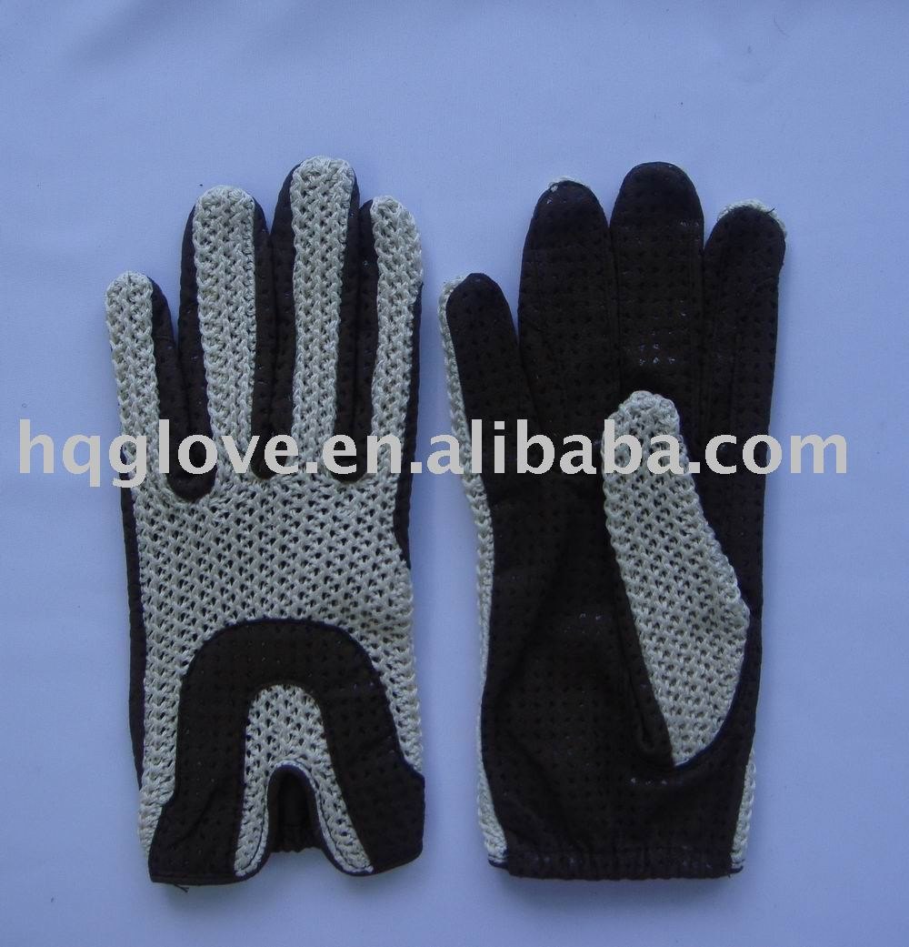 Crochet back riding glove