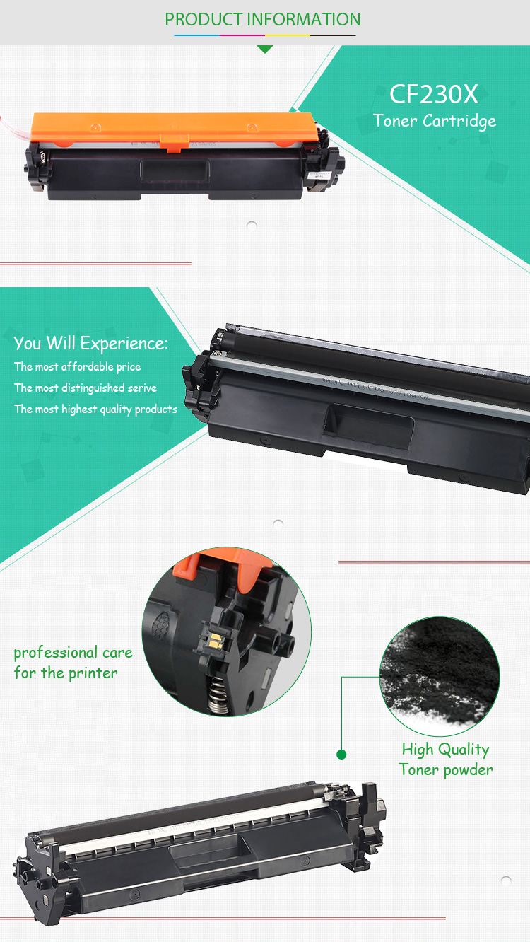 New product GS toner cartridge CF230X compatible for HP M203D M203DN M203DW M230SDN M227D M227FDN M227FDW M227SDN