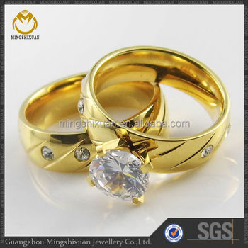 Famous Brand Fashion Jewelry Dubai Wedding Rings Yellow Gold Ring